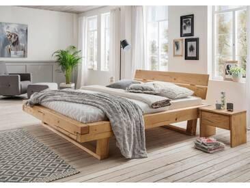 Premium collection by Home affaire Bett »Ultima«, aus massivem Holz in Balken-Optik, natur, Fichte gewachst/geölt, fi. wachs/ge
