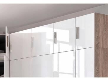 Wimex Schrankaufsatz »Malta«, mit Hochglanz-Front, weiß, Breite 40 cm, Tiefe 54 cm, struktureichefarben hell/Hochglanz weiß