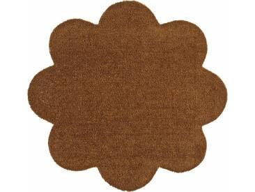 HANSE Home Fußmatte »Deko Soft«, blumenförmig, Höhe 7 mm, saugfähig, waschbar, natur, 7 mm, natur