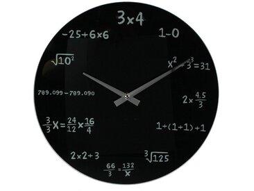 Wanduhr »Mathematik«, schwarz, schwarz