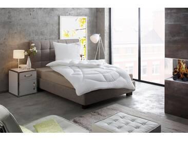 Paradies Kunstfaserbettdecke, »Prosa«, normal, Bezug: 100% Baumwolle, (1-tlg), weiß
