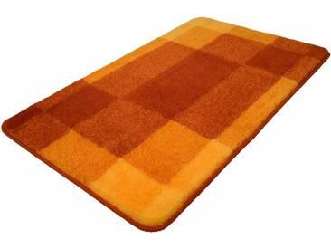 Kleine Wolke Badematte »Mix« , Höhe 20 mm, rutschhemmend beschichtet, fußbodenheizungsgeeignet, orange, 20 mm, brandy