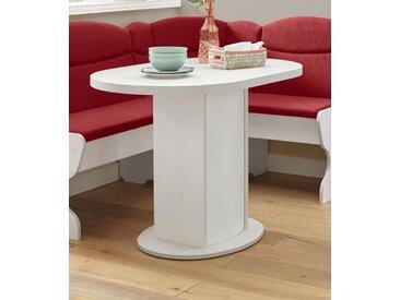 Säulen-Esstisch »Apollon 2«, Breite 90 cm, oval, weiß, Tischplatte: Holzwerkstoff, pinie weiß