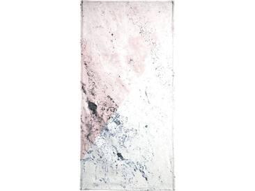 Juniqe Strandtuch »Rose Geo Marble«, Weiche Frottee-Veloursqualität, weiß, Frotteevelours, grau-weiß-rosa