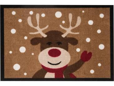 HANSE Home Fußmatte »Reindeer«, rechteckig, Höhe 7 mm, braun, 7 mm, braun
