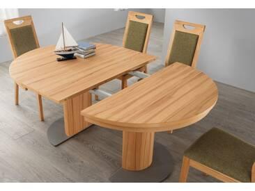 VENJAKOB Säulen-Kulissentisch mit Auszugsfunktion »my home«, runde Tischplatte, Ø 120 cm, braun, Kernbuche