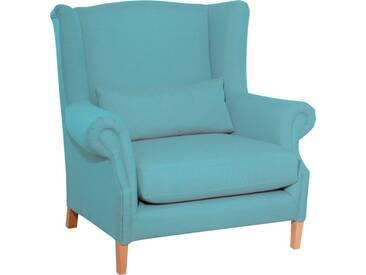 Max Winzer® Ohrensessel »Henry«, inklusive Zierkissen, blau, aqua