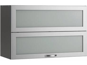 wiho Küchen Faltlifthänger »Flexi«, grau, Glastür/anthrazit