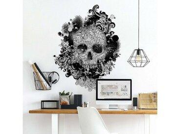 Bilderwelten Wandtattoo »Skull«, weiß, Weiß
