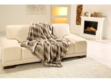 Gözze Wohndecke »Rentier Felloptik«, warme Qualität, grau, Kunstfaser, grau-beige
