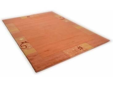THEKO Teppich »Sierra«, rechteckig, Höhe 14 mm, von Hand geknüpft, braun, 14 mm, terra