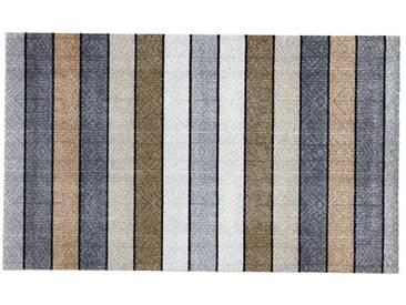 wash+dry by Kleen-Tex wash & dry Fußmatte ohne Gummirand, waschbar, grau, grau/braun