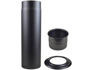 Muldenthaler MULDENTHALER Rauchrohr-Set , Ø 120 mm, Ofenrohr für Kaminöfen, grau, grau, grau