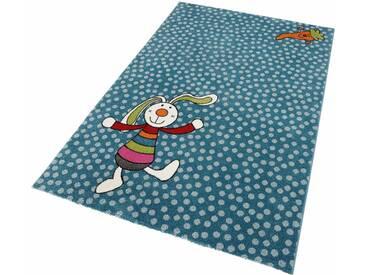 Sigikid Kinderteppich »Rainbow Rabbit«, rechteckig, Höhe 13 mm, blau, 13 mm, blau