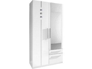 Kleiderschrank, weiß, 48x193x54 (BxHxT) cm, 1-türig, weiß