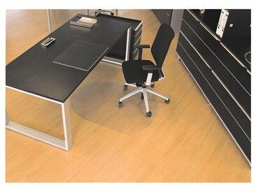 RSOFFICE Bodenschutzmatte 120x90 cm, Rechteck mit gerundeten Seiten, Hart »Rollsafe«, weiß, transparent