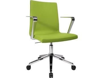 TOPSTAR Bürostuhl »Cube« chrom, 5-Fuß, inkl. Armlehne, grün, grün