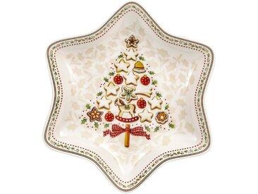 Villeroy & Boch Sternschale Baum »Winter Bakery Delight«, weiß, 24,5cm, weiß,rot,beige