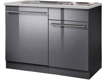 wiho Küchen Wiho Küchen Spülenschrank »Chicago, Breite 110 cm «, grau, anthrazit
