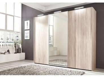 nolte® Möbel Schwebetürenschrank»Marcato 1B« mit Spiegeltür, braun, sonoma-eiche Dekor