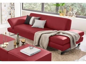 W.SCHILLIG 3-Sitzer Sofa »taboo« mit Normaltiefe, inklusive Armlehnenverstellung, rot, ruby red