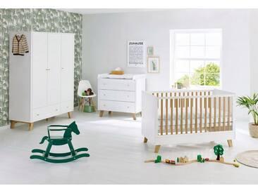 Pinolino® Pinolino Babyzimmer Set (3-tlg) Kinderzimmer »Pan« breit groß, weiß, weiß/eiche
