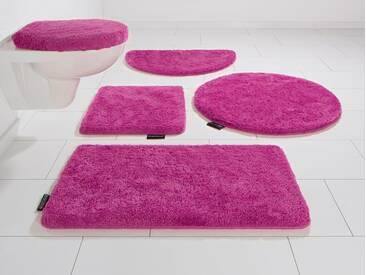 Bruno Banani Badematte »Lana« , Höhe 25 mm, rutschhemmend beschichtet, fußbodenheizungsgeeignet, rosa, 25 mm, pink