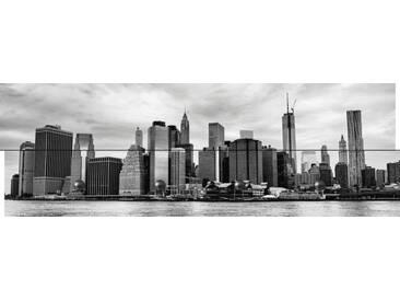 Artland Wandgarderobe »jovannig: Manhattan Skyline Brooklyn Bridge Park«, weiß, 30 x 90 x 2,8 cm, Weiß