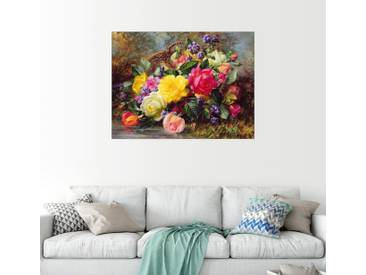 Posterlounge Wandbild - Albert Williams »Rosen an einem Teich«, bunt, Holzbild, 160 x 120 cm, bunt