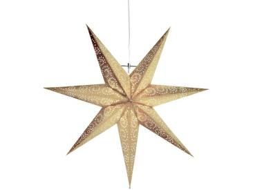 STAR Star Papierstern zum Hängen, mit Kabel »Metasol«, goldfarben, Breite x Tiefe x Höhe in cm : 60 x 16 x 60, Gold