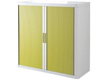 EASYOFFICE Rollladenschrank 110 x 104 cm »easyOffice«, bunt, weiß/grün