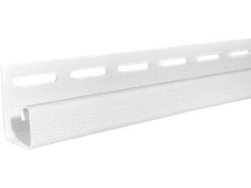 Baukulit VOX BAUKULIT Set: Abschlussprofil »SOFFIT Weiß«, für Dachüberstand, 4er Set, je 1,525 m, weiß, weiß