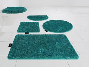 Bruno Banani Badematte »Nany« , Höhe 20 mm, rutschhemmend beschichtet, fußbodenheizungsgeeignet, blau, 20 mm, evergreen
