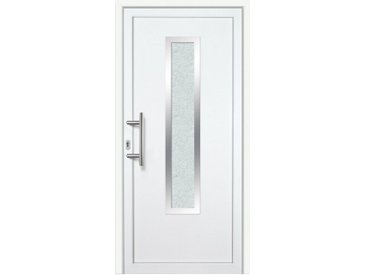 KM Zaun KM MEETH ZAUN GMBH Kunststoff-Haustür »K729P LS«, BxH: 98x198 cm, weiß, links, weiß, links, weiß