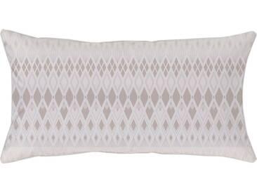 Curt Bauer Kissenbezug »Velda«, mit gemusterten Streifen, natur, Mako-Brokat-Damast, pearl dust