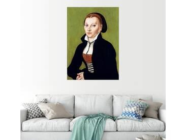 Posterlounge Wandbild - Lucas Cranach d.Ä. »Katharina von Bora«, grün, Alu-Dibond, 90 x 130 cm, grün