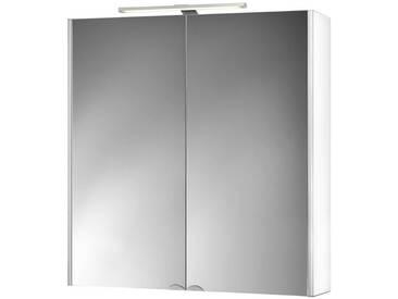 jokey Jokey Spiegelschrank »Dekor Alu LED« Breite 67 cm, mit LED-Beleuchtung, weiß, weiß
