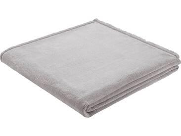 BIEDERLACK Wohndecke »King Fleece«, leichte Qualität, grau, Kunstfaser, grau