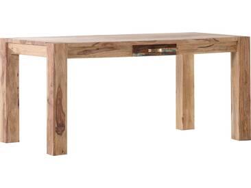 Gutmann Factory Esstisch »Patchwork« aus massivem Sheesham Holz, Breite 160 cm, natur, natur/bunt