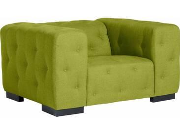 Max Winzer® Sessel »York« mit Knopfheftung, Breite 130 cm, grün, apfel
