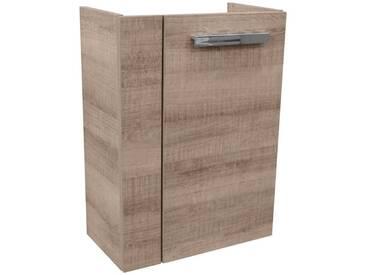FACKELMANN Waschtischunterbau »A-Vero«, Breite 44 cm, grau, Türanschlag wechselbar, eichefarben grau