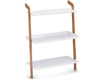 Zeller Present Leiterregal »Bamboo«, Set 5-tlg., weiß, weiß,holzfarben