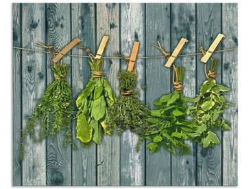 Artland Küchenrückwände »Team 5: Kräuter mit Holzoptik«, grün, 65x80 cm, Grün