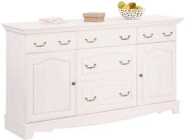 Home affaire Sideboard »Romantika« aus massiver Kiefer, Breite 164 cm, weiß, weiß