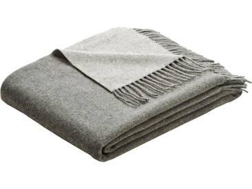 BIEDERLACK Plaid »Soft Impression«, mit Fransen, grau, Wolle-Kaschmir, grau