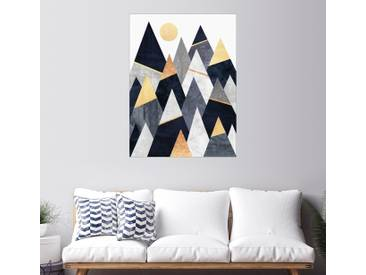 Posterlounge Wandbild - Elisabeth Fredriksson »Fancy Mountains«, bunt, Holzbild, 90 x 120 cm, bunt