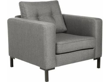 Max Winzer® Sessel »Timber« mit dekorativen Knöpfen, inklusive Zierkissen, grau, hellgrau