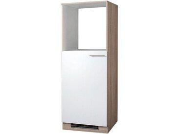 wiho Küchen Wiho Küchen Kombinierter Backofen-Kühlumbauschrank »Montana«, Höhe 165 cm, weiß, eichefarben sonoma/weiß