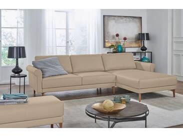 Hülsta Sofa hülsta sofa Polsterecke »hs.450« im modernen Landhausstil, Breite 282 cm, natur, Recamiere rechts, beige
