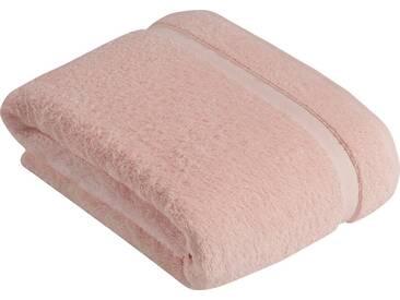 Vossen Saunatuch »Scala«, mit Bordüre, rosa, Wirkfrottee, pale rosé